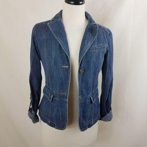 LOFT denim jean jacket size 2